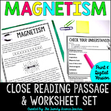 Magnetism: CLOSE Reading Activity {Print & G0}