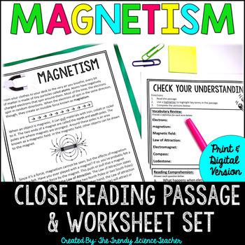 Magnetism: CLOSE Reading Activity {Print & G0}