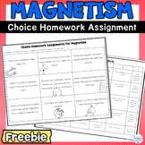 Magnetism Choice Homework Assignment FREEBIE
