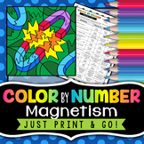 Magnetism Color by Number - Science Color By Number