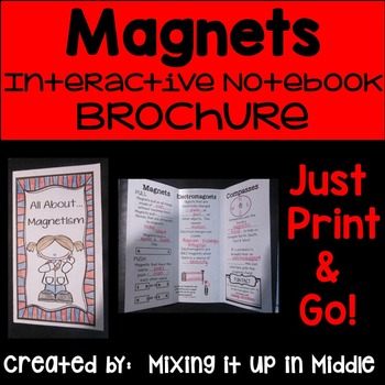 Magnetism Foldable Science Brochure for Interactive Notebooks