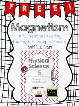 Magnetism Informational Reading Passage and Comprehension Sample