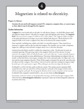 Magnetism Is Related to Electricity