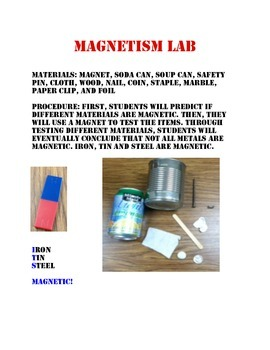 Magnetism Lab with different Metals