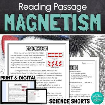 Magnetism (Magnets) Reading Comprehension Passage