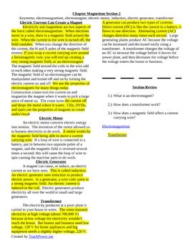 Magnetism Outline Notes