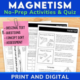 Magnetism Passage with Comprehension Activities | Distance