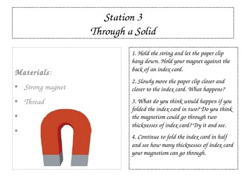Magnetism Station Cards/ Lab Stations