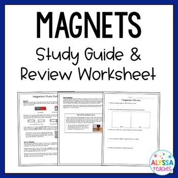 Magnetism Study Guide and Review Worksheet (SOL 4.3)