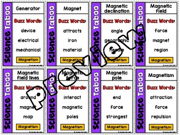 Magnetism Vocabulary Review Game