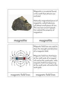 Magnetism - Three Part Cards