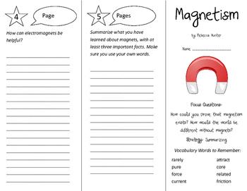 Magnetism Trifold - Imagine It 4th Grade Unit 4 Week 2