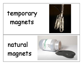Magnetism Vocabulary Word Wall Words with Pictures