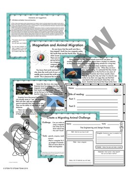 Magnetism and Animal Migration Informational Reading and STEM Challenge