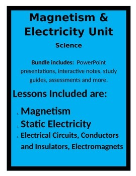 Magnetism and Electricity BUNDLE