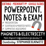 Magnets and Electricity PowerPoint, Notes & Exam