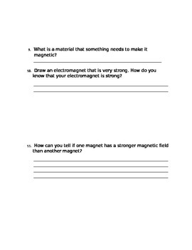 Magnetism and Electricity Test