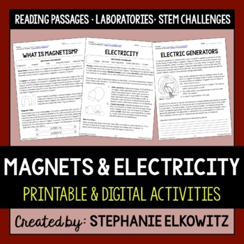 Magnets and Electricity Unit Activities (Differentiated)