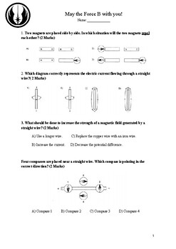 Magnetism and Magnetic Force assessment