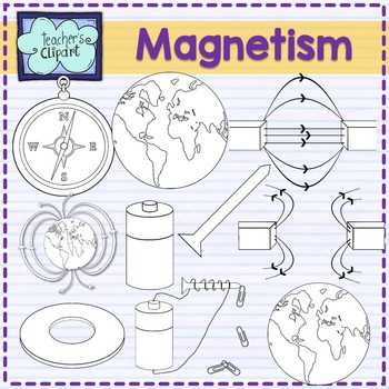 Magnetism clipart {Science clip art}