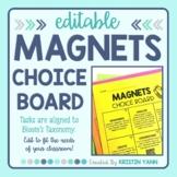 Magnets Choice Board - Editable