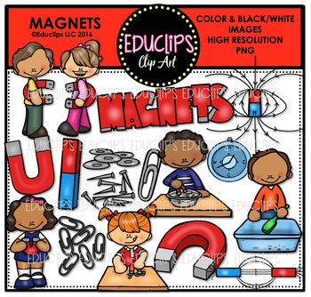 Magnets Clip Art Bundle  {Educlips Clipart}