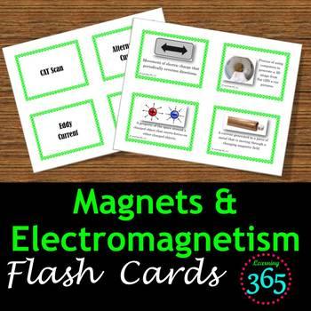 Magnets & Electromagnetism Vocabulary Flash Cards