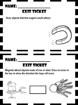 Magnets - Exit Ticket