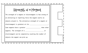 Magnets Flap book