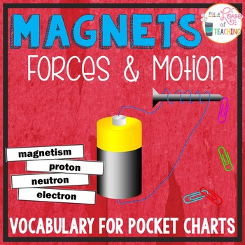 Magnets Pocket Chart Vocabulary | EDITABLE