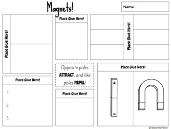 Magnets Interactive Notebook Page  **EDITABLE**