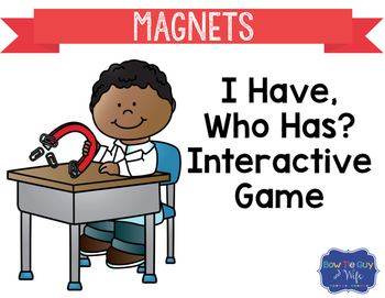 """Magnets Interactive Vocabulary Game """"I Have, Who Has?"""" Cards"""