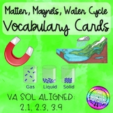 Magnets, Matter, and Water Cycle Vocabulary Cards