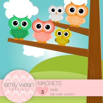 Magnets - Owl Clip Art