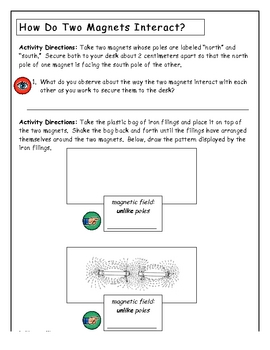 Magnets Science Activity Packet