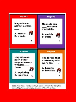 Magnets Unit Task Cards