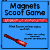 End of Unit Magnets Scoot Review Game for Physical Science