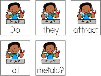 Magnets Scrambled Sentences