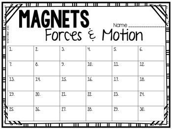 Magnets Task Cards (Forces & Motion)