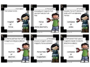 Magnets Task Cards (Forces & Motion)