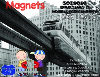 Magnets Task Cards for Fluency and Comprehension