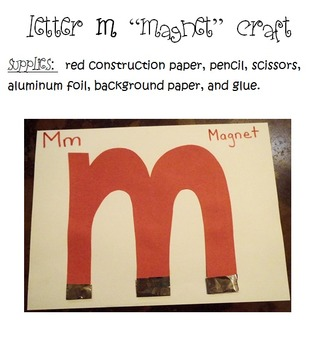 Letter M - Magnets Thematic Unit