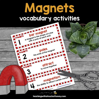 Magnets Tiered Vocabulary Booklets