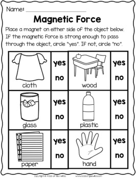 Magnets Unit (Lesson Plans, PowerPoint, Experiments, and Worksheets)