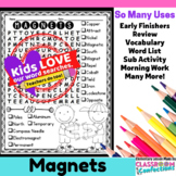 Magnets Word Search Activity