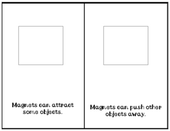 Magnets: adapted science book