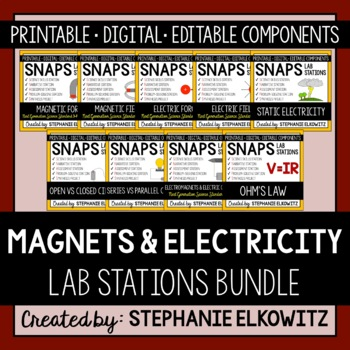 Magnets and Electricity Lab Stations Bundle