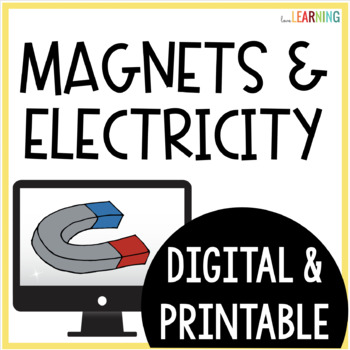 Magnets and Electromagnets PowerPoint Lesson, Guided Notes, and Lab