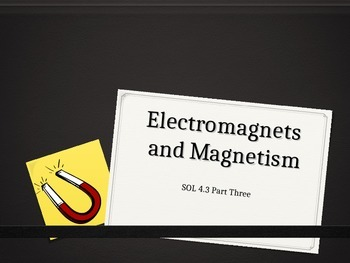 SOL 4.3: Magnets and Electromagnets Powerpoint