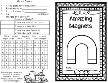 Magnets and Electromagnets: 4 Magnet Activities plus Assessment